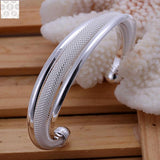 B019 ! SGS Test Past Latest Trendy Classic 925 Stamped silver plated jewelry Hot sell Bangle Price