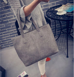 2017 fashion formal women's vintage handbag brief one shoulder big bags female gray /black large capacity bag