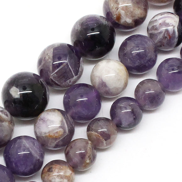 Natrual Flower Amethyst Stone Beads 8/10/12mm Purple Crystal Stone Beads For Jewelry Making Bracelet Necklace 15inches