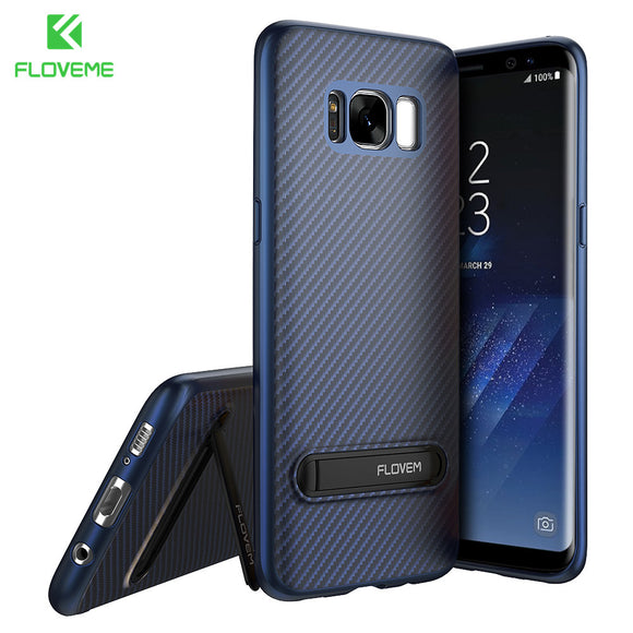 FLOVEME Luxury Phone Case For Samsung S8 Plus Case Kickstand Mobile Phone Cover For Samsung Galaxy S8 S8 Plus Case Silicon Shell