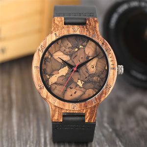 Modern Wooden Wristwatch Creative Burned Paper Style Charming Retro Bamboo Watch Casual Male Female Clock relogio feminino saat