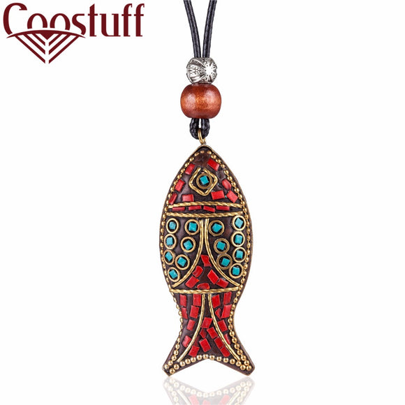 Vintage Fish charms Pendant Jewelry statement necklaces & pendants Wholesale goth Long Women choker Necklace colar