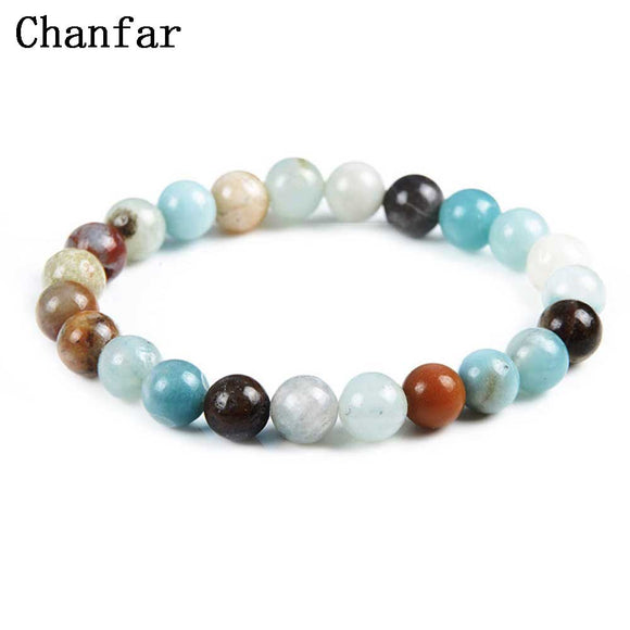 Chanfar 19 Styles Elastic Natural Stone Bracelet & Bangle With White Howlite Lava Buddha Beads Bracelets Tiger Eye Jewelry