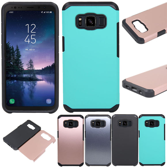 Dual Layer TPU Silicone & PC Hybrid Armor Shockproof Anti Scratch Hard Phone Back Cover For Samsung Galaxy S8 Active G892F G892A