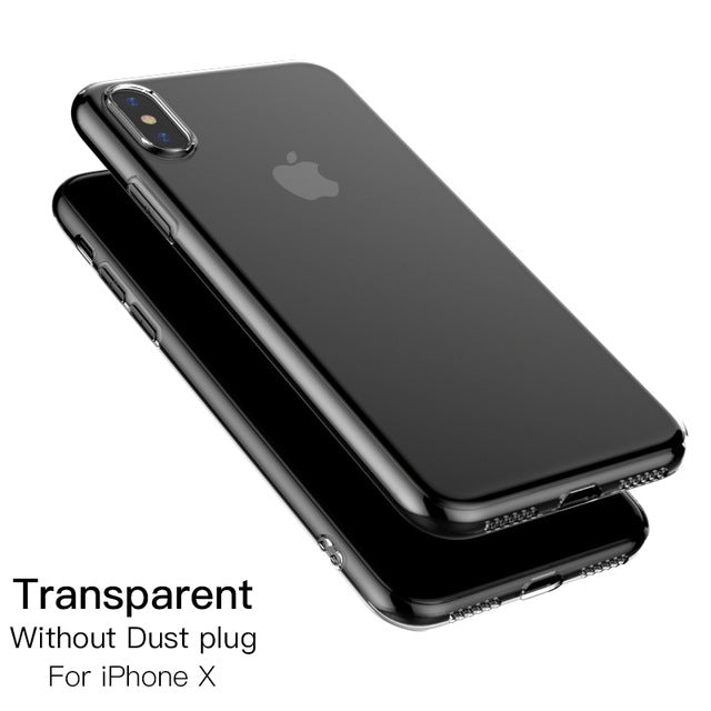 quality design 76d6d 608cb PZOZ for iphone x case TPU transparent Silicone Case Cover For Apple x ten  10 Mobile Phone Crystal Clear protective soft case