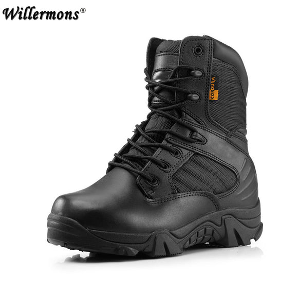 Winter Army Men's Military Outdoor Desert Combat Tactic Mid-calf Boots Men Snow Tactical Boots Botas Hombre Zapats