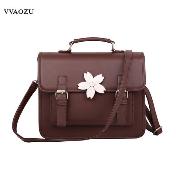 Japanese Harajuku Style Fashion Women Hand Bags Handbags PU Preppy Satchels Schoolbag