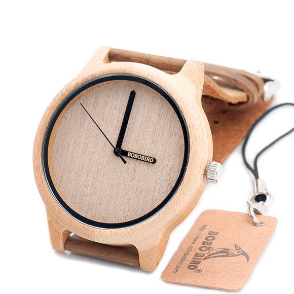 BOBO BIRD LA22 BOBO BIRD Second Hand Wooden Watch Casual Fashion Women Men Watches Can Ship from Russia to Russia