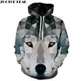 Diamond Wolf Printed 3D Hoodies Men Sweatshirts Animal Hooded Pullover Fashion Autumn Tracksuit Male Jackets Hot 6xl Quality New