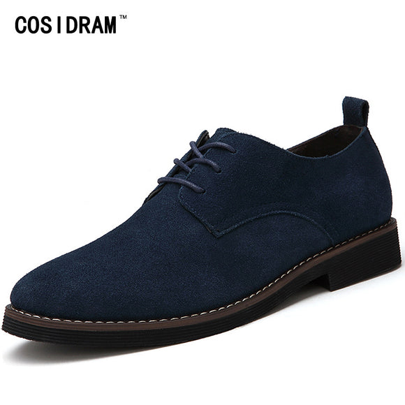 COSIDRAM Plus Size 45 Men Oxfords Faux Suede Leather Men Casual Shoes Spring Autumn Fashion Oxford Shoes Men 2017 Male BRM-895