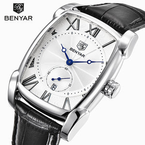 Benyar 2017 Luxury Brand Quartz Mens Watches Waterproof Military Leather Men Watches Clock Male Erkek Kol Saati Relogios