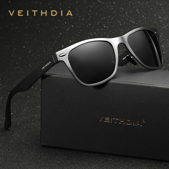 VEITHDIA Brand Designer Aluminum Magnesium Men's Mirror Sun Glasses Eyewear Accessories Sunglasses