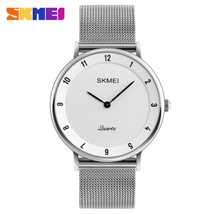 SKMEI Luxury Brand Watch Steel Slim Simple Style Ultra Thin Men Quartz Sport Watch Waterproof Causal Watches Xcfs Kol Saat