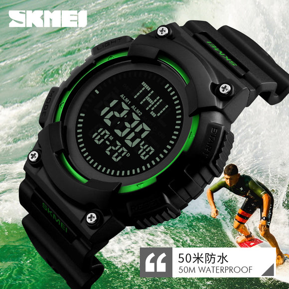 SKMEI Men Compass Sports Watch Countdown LED Digital Military Watches Men Clock Multifunction Wristwatches Relogio Masculino