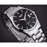 New Mens watch Stainless Steel Band Date Analog Quartz Sports Wrist Watch