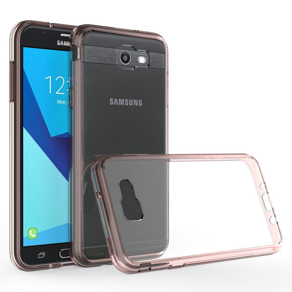 New Ultra Thin TPU Frame Hard Acrylic Back Case Shockproof Clear Cover For Samsung Galaxy J7 2017/J7 V 2017/J7 Sky Pro/J7 Perx @