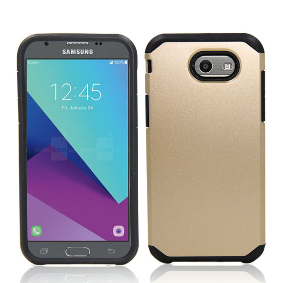 Hybrid Rugged Case + Screen Protector Shockproof Cover For Samsung Galaxy J3 Emerge/Prime/Galaxy J3 2017/J3 Eclipse/J3 Mission @