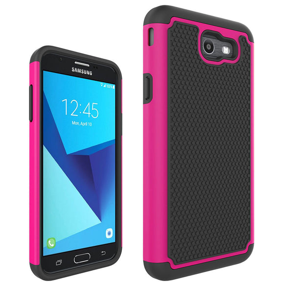 Dual Layer Hybrid Armor Case Shockproof Silicone Rubber Hard PC Cover For Samsung Galaxy J7 2017/J7 V 2017/J7 Sky Pro/J7 Perx @
