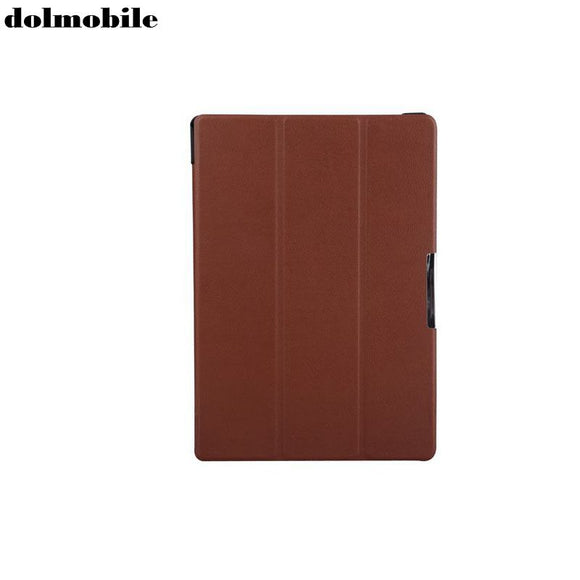 dolmobile PU Leather Slim Cover with Stand Case for Lenovo Tab 10 TB-X103F X103F 10.1'' Tablet + Stylus Pen