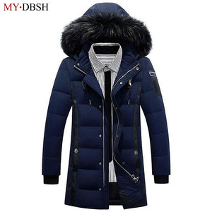 2017 New Style Long Thicken Winter Down Jackets Men's Brand Clothing Warm Duck Down Parkas Male Top Quality Men Casual Coats