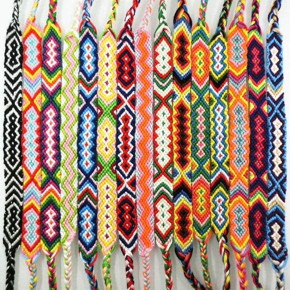 AMIU Friendship Bracelet Personalized Woven Rope String Hippy Boho Cotton Popular Bohemia Style For Women And Men