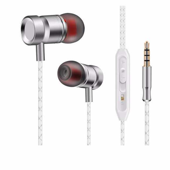 Super Bass Sound In-Ear Earphone 3.5 mm Dynamic Portable Sport Earphones With Microphone For Phones Computers Tablets MP4 MP3