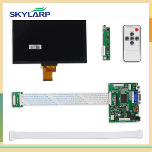 skylarpu 1024*600 IPS Screen Display LCD TFT Monitor EJ070NA-01J with Remote Driver Control Board 2AV HDMI VGA for Raspberry Pi