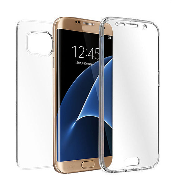 2017 New High Quality TPU Crystal Clear Cover Full Body Protective Case For Samsung Galaxy S7 Edge