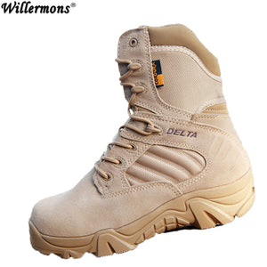 Winter/autumn Men Quality Brand Military Leather Boots Special Force Tactical Desert Combat Boats Outdoor Shoes Snow Boots