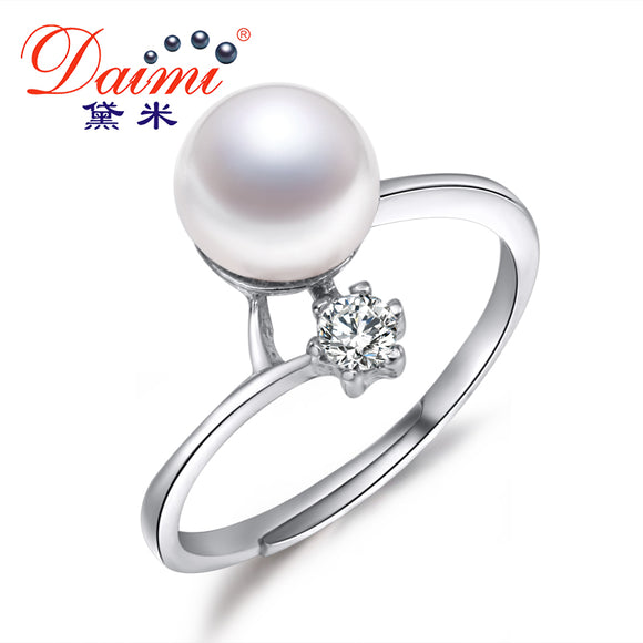 Clearance Buy50gift50 100% Real Pearl Ring 8-9mm Freshwater Pearl Ring For Women Anniversary Gift Bijoux