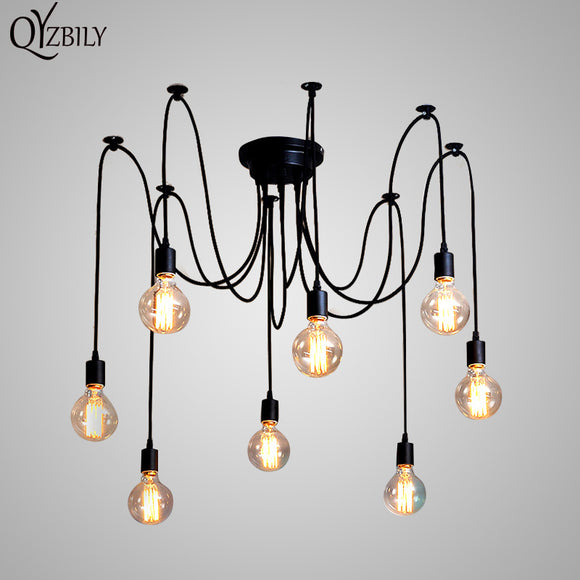 Pendant Lights Lustres Spider Pendant Lamp Luminaire Multiple Adjustable Retro Hanglamp Abajur Fixture Lighting Led Home E27