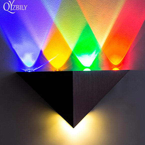 Modern Led Wall Lamp Aluminum Body Triangle Wall Light For Home Lighting Bathroom Luminaire Abajur Sconce Indoor Outdoor Lustre
