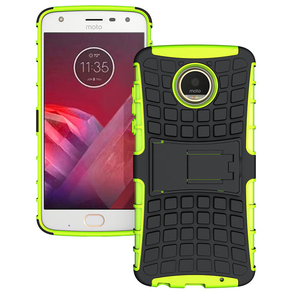 2 In 1 Hard PC + TPU Rubber Hybrid Armor Case Shockproof Impact Protective Shell Cover For Motorola Moto Z2 Play