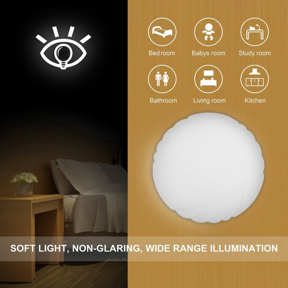 New LED Flush Mount Ceiling Lights 12W Motion Sensor Light-operated Automatically on Round Ceiling Light for Dining Room