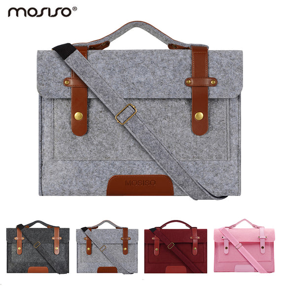 Mosiso Felt Laptop Shoulder Bag 13.3 15.6 inch Cover Notebook Case for MacBook Air Pro 13 15 DELL ACER Asus HP Mac 12
