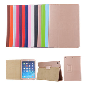 wholesale Case For Apple New iPad 9.7 2017 Model A1822 A1823 Tablet Case Litchi Grain Flip Cover PU Leather Protective shell
