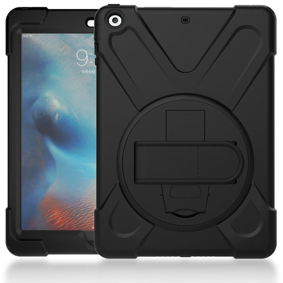 Hmsunrise Case For apple new ipad 9.7 2017 Kids Safe Shockproof Soft Silicone Stand Armor Cover Hand hold function A1822 A1823