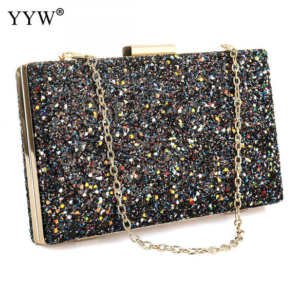 Trenadorab Solid Women's Clutch Bag Diamonds Chain Leather Women Envelope Bag Clutch Evening Party Bag Female Clutches Handbag