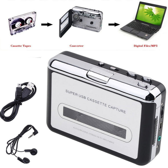 Original Genuine Ezcap 218 Tape to PC Old Cassette to MP3 Format Converter Audio Recorder Capture Can be Walkman Music Player