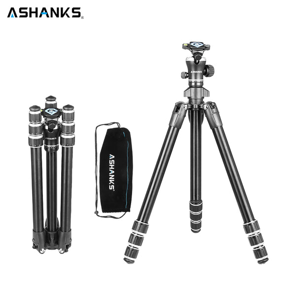 ASHANKS A666 Aluminum Camera Tripod with Professional Video Ball Head Portable for Photographic DSLR Camera 8KG 142cm/55.9''