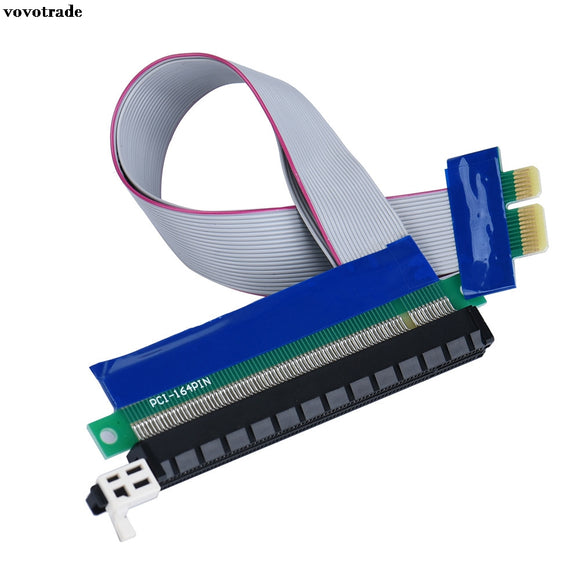 vovotrade (USA Respone) PCI-E Express 1X To 16X Riser Card Extender Extension Ribbon Flex Adapter Cable