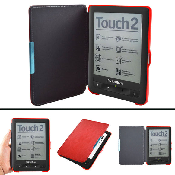 PB 622 623 Advanced pu leather Cover Case for Pocketbook 622 623 Touch 1 2 eReader Flip folio book Cover magnet closured Case