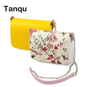 TANQU New 1 set Obag Opocket style small EVA pocket plus Leather Flap long shoulder chain with clip closure attachment O bag