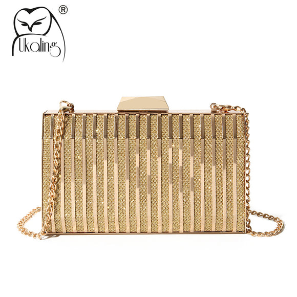 UKQLING Brand New Luxury Clutch Bags Women Bag Clutches Purse with Chain Evening Bags for Party Wedding Bridal Handbags Holder