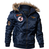 MORUANCLE Mens Winter Warm Bomber Jackets Fleece Lined Thick Thermal Flight Jackets And Coats With Fur Hood Plus Size M-4XL