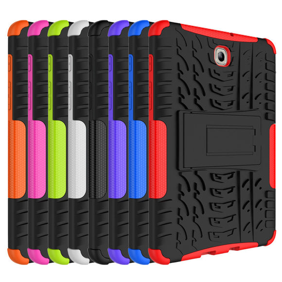 Dazzle Heavy Duty Impact Armor Kickstand Hybrid TPU PC Hard Cover Case for Samsung GALAXY Tab S2 T710 T715 8.0