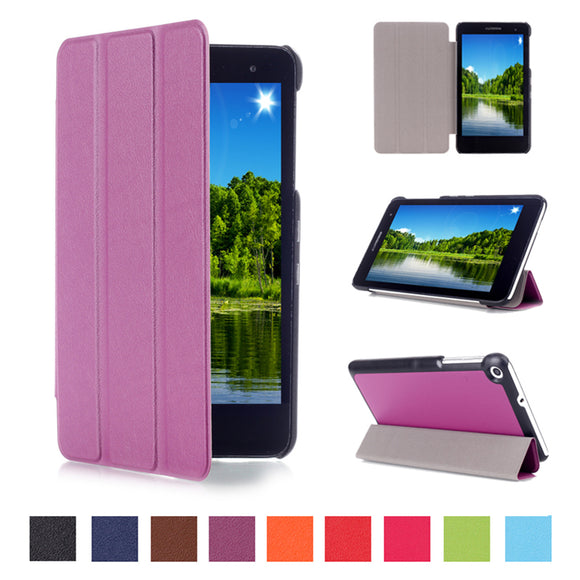 New Arrival PU Leather Cover Stand Case For Huawei MediaPad T1 7.0 T1-701u Tablet case + Screen Protector film+Stylus