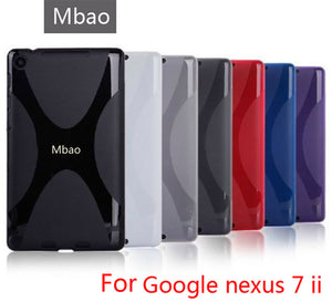 High quality X Line TPU Case Cover Silicone Skin Soft Gel Case for Google Nexus 7 II 2 2013 2nd 2 Generation