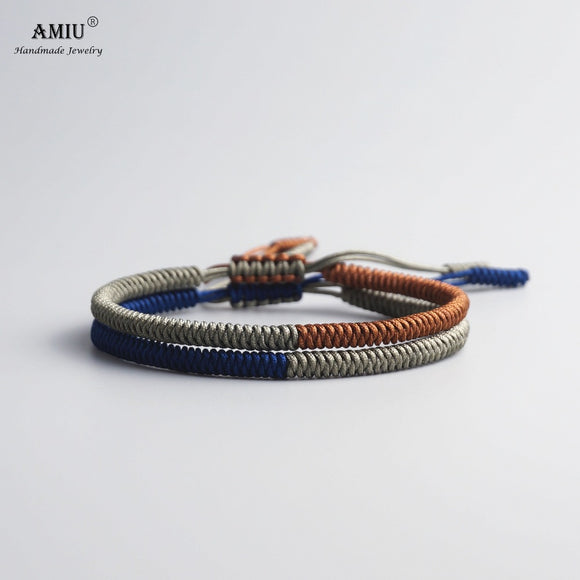 AMIU Multi Color Tibetan Jewelry Buddhist Tibetan Bracelets & Bangles For Women Men Handmade Knots Rope Budda Lucky Bracelet