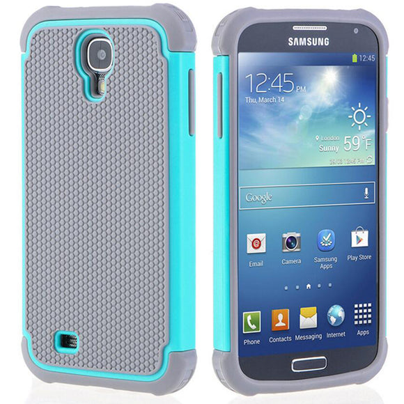 for Samsung Galaxy S4 case fashion armor hybrid rubber inner hard cover shockproof case for Samsung Galaxy S4 i9500 i337 case